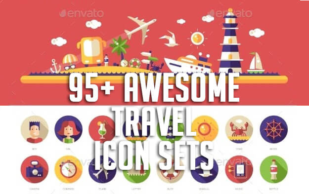 95+ Awesome Travel Icon Sets