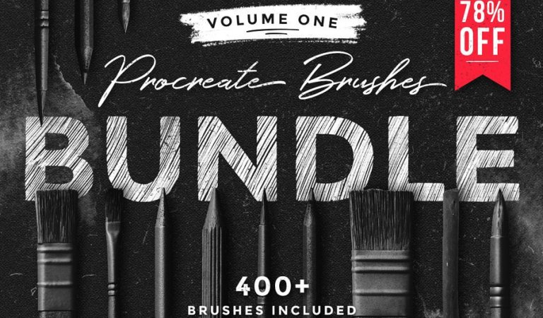 Procreate Brushes Bundle 78% Off