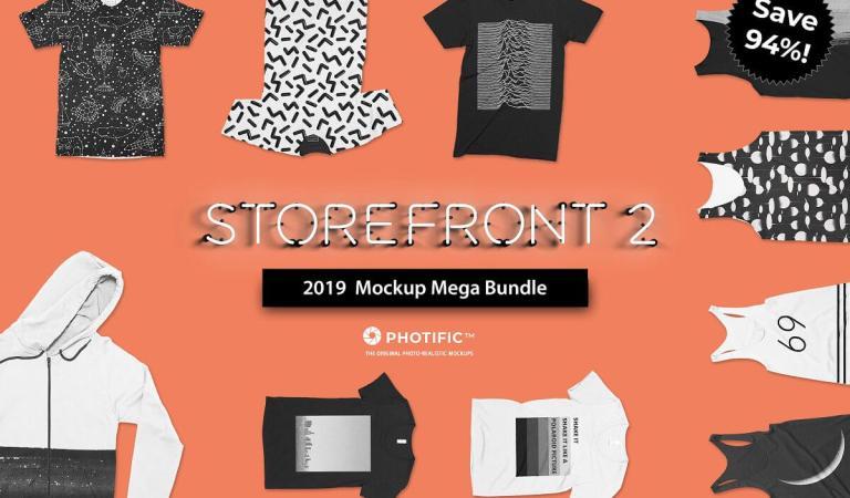 Storefront 2 Apparel Mockup Bundle 96% Off