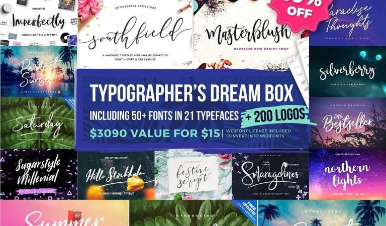 Typographer's Dream Box + 200 Logos 99% Off