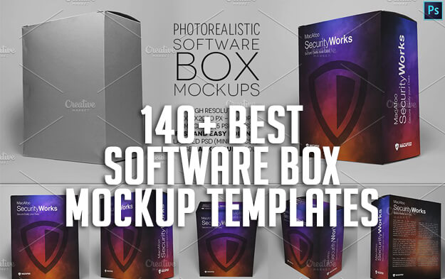 140+ Best Software Box Mockup Templates
