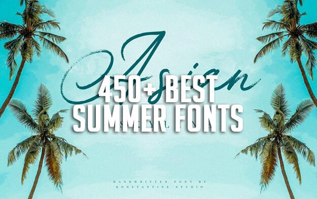 450+ Best Summer Fonts for 2019