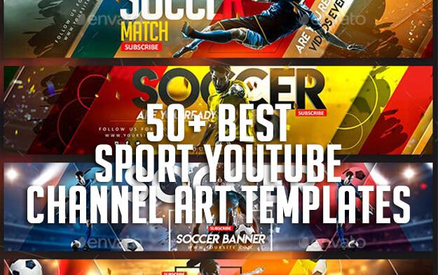 50+ Best Sport Youtube Channel Art Templates