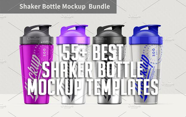 55+ Best Shaker Bottle Mockup Templates