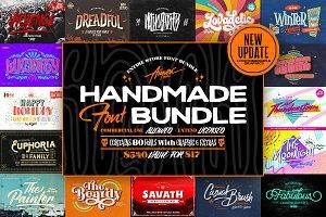 Handmade Font Bundle + Extras 97% Off