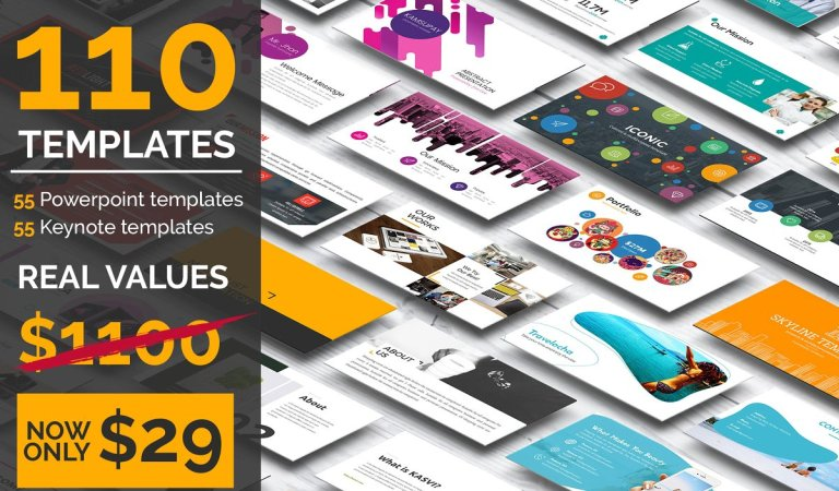 110 Powerpoint & Keynote Template 97% Off