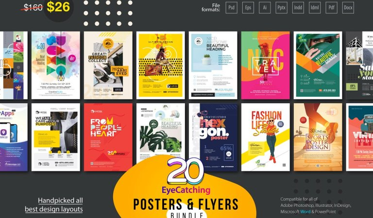 EyeCatching Poster & Flyer Bundle 83% Off