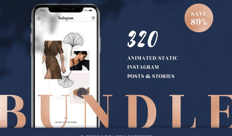 Entire Instagram Templates 89% Off