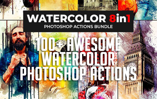 100+ Awesome Watercolor Photoshop Actions for Creative Photo Effects