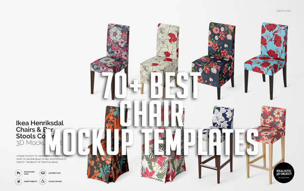 70+ Best Chair Mockup Templates