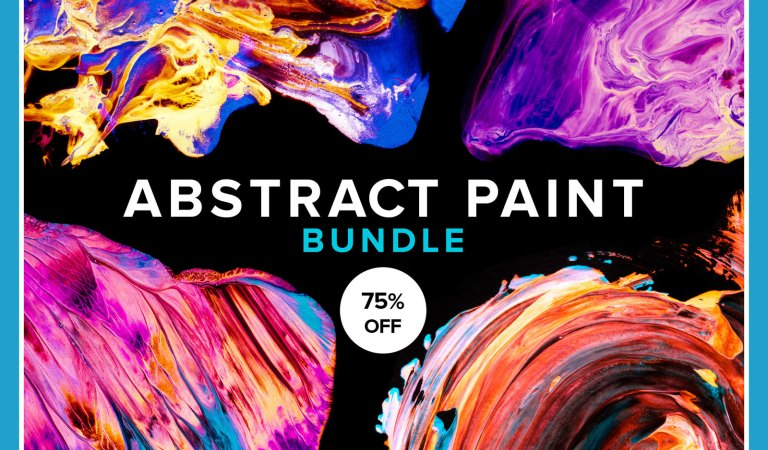 80+ Abstract Paint Bundle 75% Off