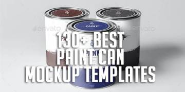 130+ Best Paint Can Mockup Templates