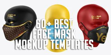 60+ Best Face Mask Mockup Templates