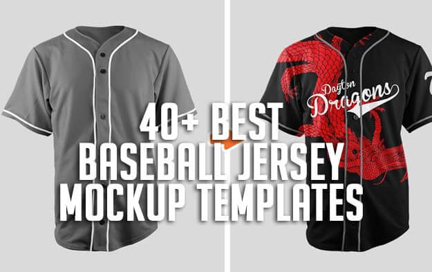 40+ Best Baseball Jersey Mockup Templates
