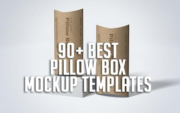 90+ Best Pillow Box Mockup Templates