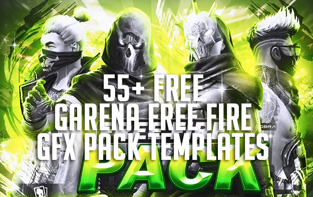 55+ FREE Garena Free Fire GFX Pack Templates