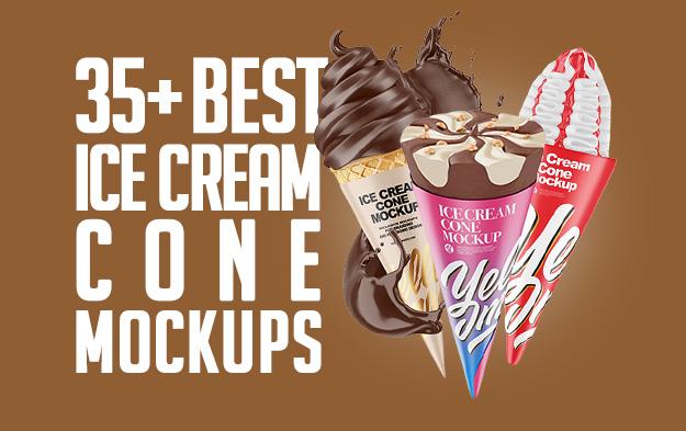 35+ Best Ice Cream Cone Mockup Templates
