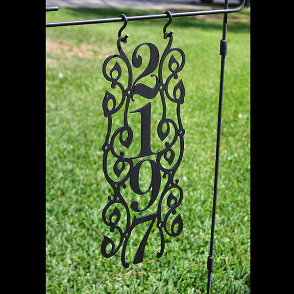 Hanging Metal Address Sign  A  A Graphic Dies
