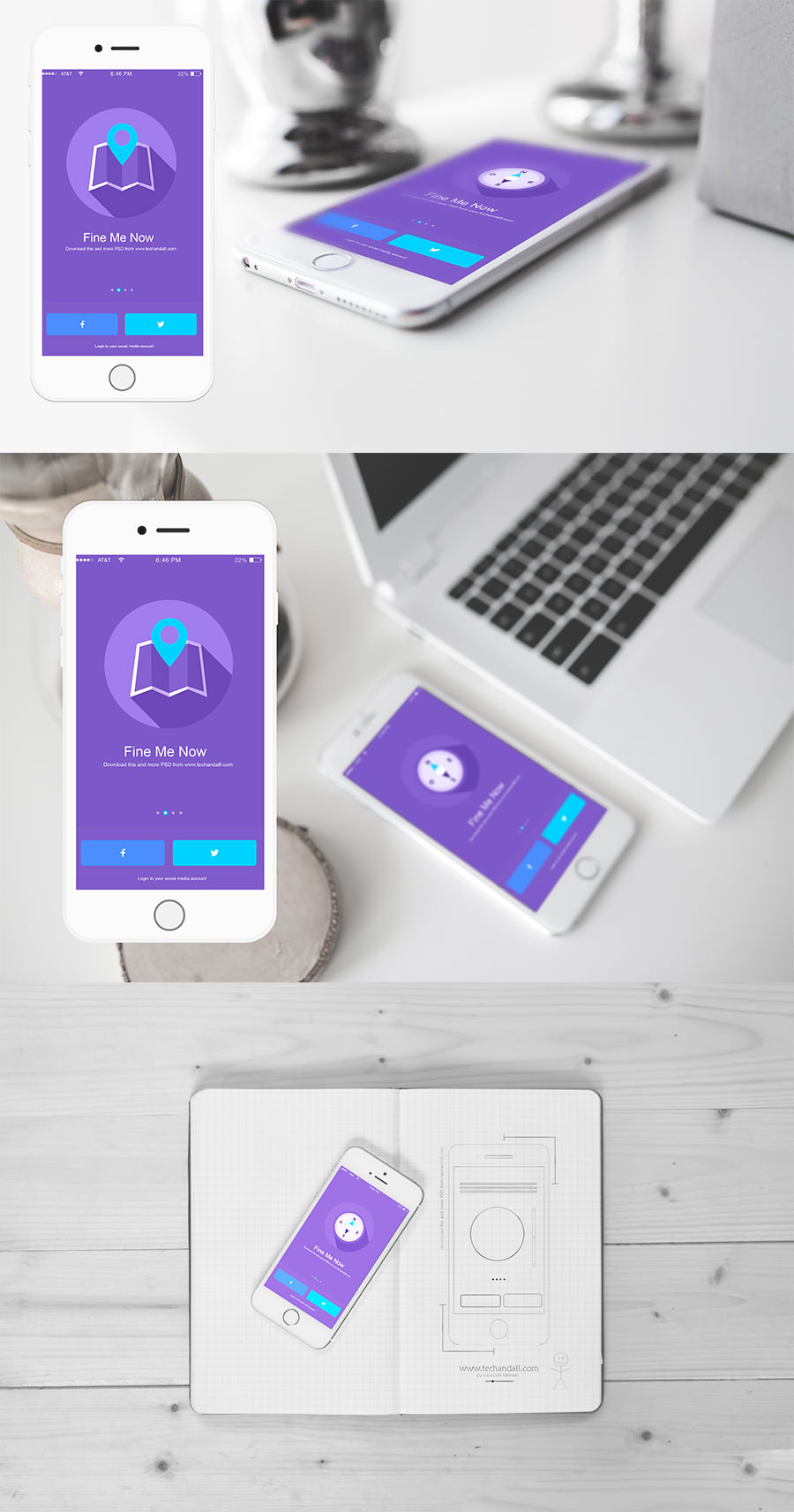 iOS App Showcase Mockup - Graphic Ghost