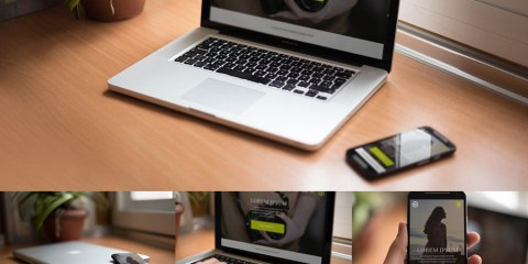 Graphic Ghost - Smartphone and Notebook Mockups