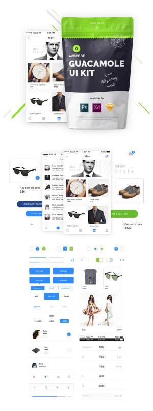Graphic Ghost - Avocode Guacamole 3in1 UI Kit
