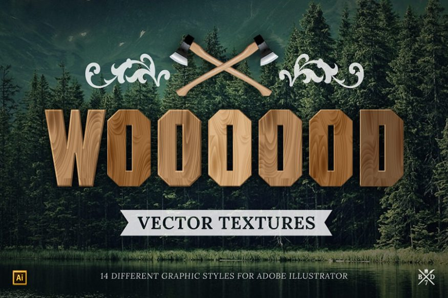 Graphic Ghost - August Deal 01 - Basari Design - 14 Wood Vector Textures