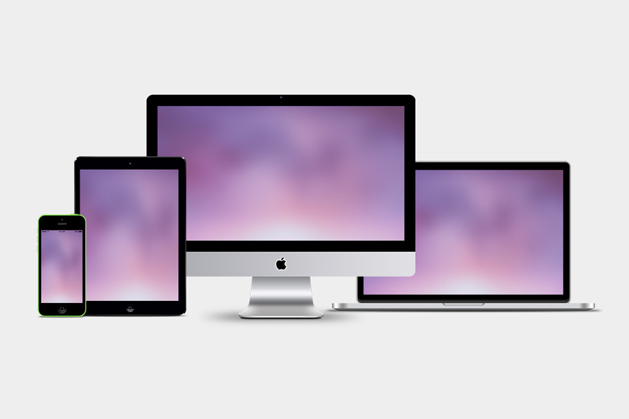 Graphic Ghost - Responsive Showcase PSD Mockups