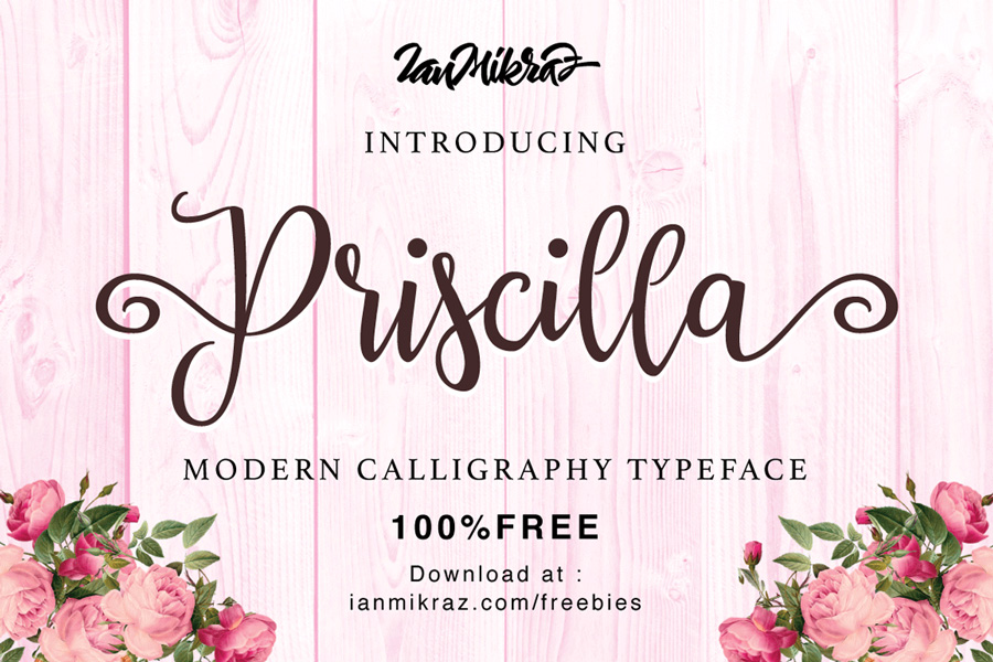 Graphic Ghost - Priscilla Script Typeface