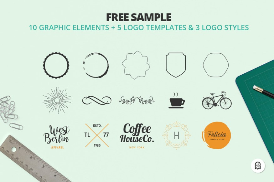 Graphic Ghost - The Professional Logo Creators Kit Free Sample 01