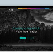 Graphic Ghost - Amber - Free Website PSD Files