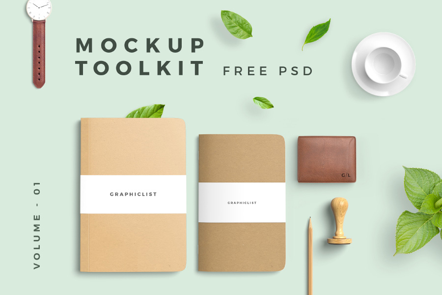 Graphic Ghost - Free Mockup Toolkit Vol 01