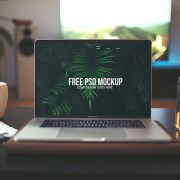 Graphic Ghost - Free Macbook Air Mockup PSD