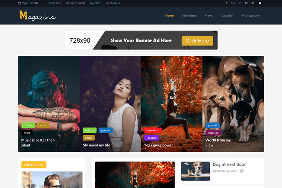 Graphic Ghost - Magazina - WordPress Magazine Theme