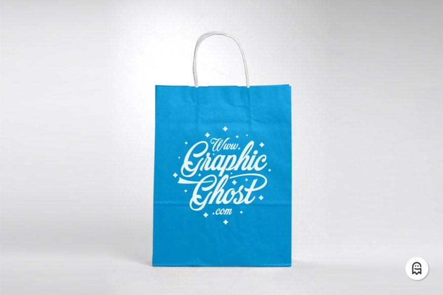 Graphic Ghost - Free Paper Bag Mockup 03
