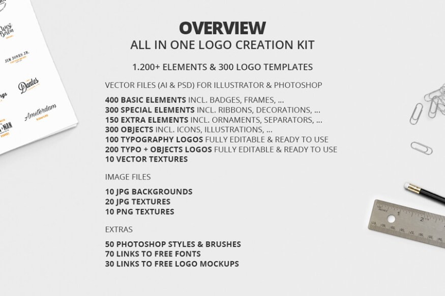 Graphic Ghost - All In One Logo Creation Kit 01