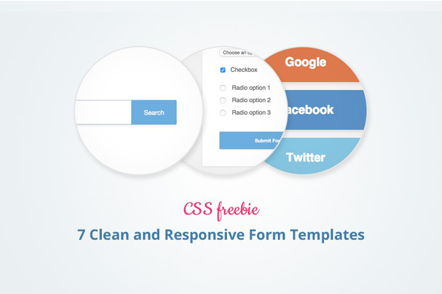 Graphic Ghost - 7 Clean and Responsive Form Templates