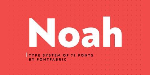 Graphic Ghost - Noah Type System - 4 Free Fonts