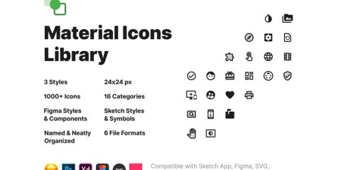 Graphic Ghost - Material Icons Library - 1000+ Free Vector Icons