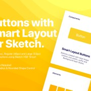 Graphic Ghost - Buttons with Smart Layout for Sketch