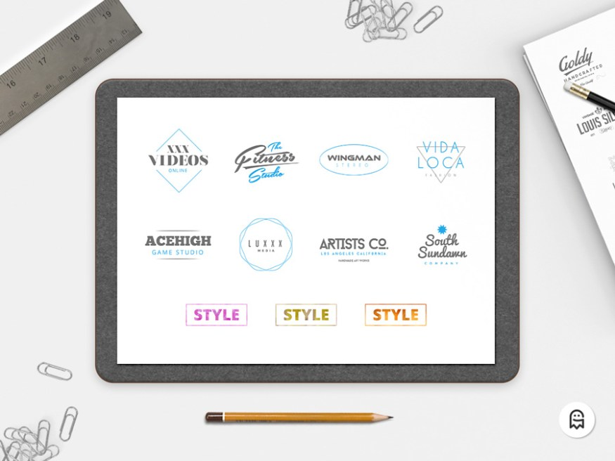 Graphic Ghost - 8 Free Logo Templates - Preview