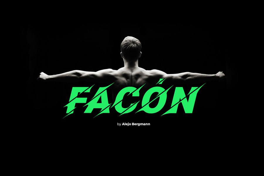 Graphic Ghost - Facón - Free Sliced Font Typeface