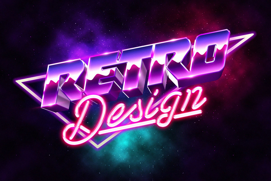 Graphic Ghost - Free 3D 80s Text Effect