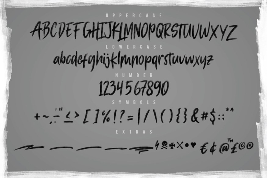 Graphic Ghost - Macbeth - Free Hand Made SVG Font