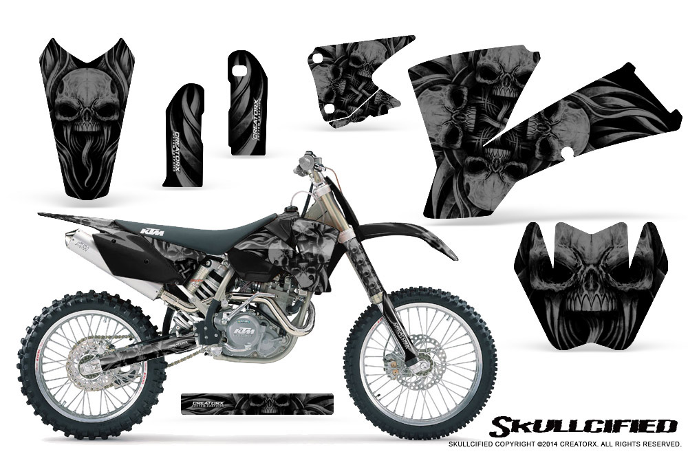 CREATORX GRAPHICS KIT FOR KTM 03-04 EXC XC 01-02 SX 125