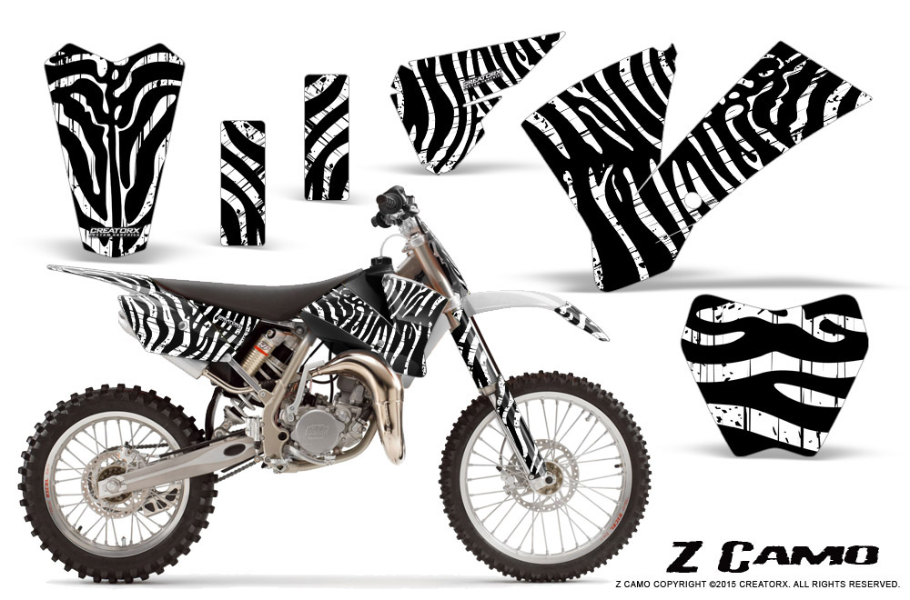 CREATORX GRAPHICS KIT FOR KTM SX85 SX105 2004-2005 ZCAMO