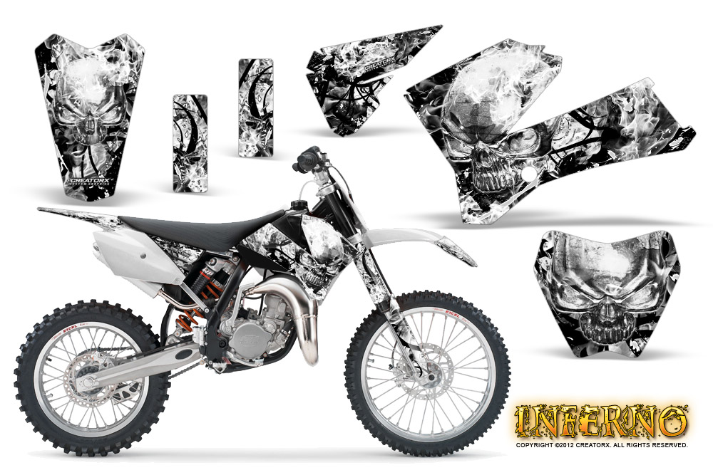 KTM SX85 SX105 2006-2012 GRAPHICS KIT CREATORX DECALS