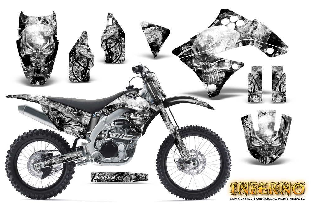 KAWASAKI KXF450 KX450F 09-11 GRAPHICS KIT CREATORX DECALS