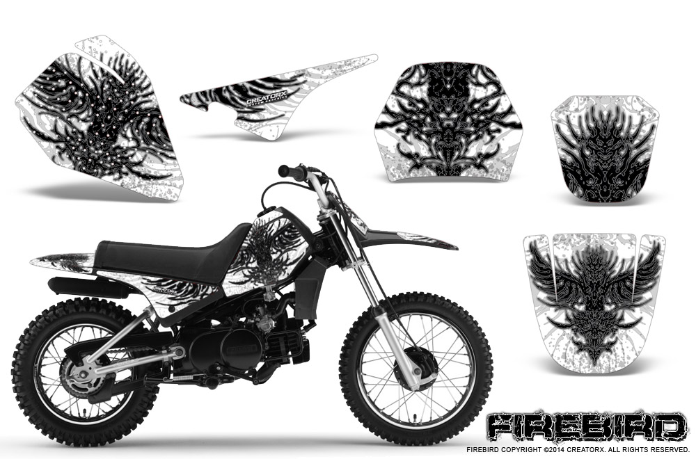 YAMAHA PW80 GRAPHICS KIT CREATORX DECALS STICKERS FIREBIRD