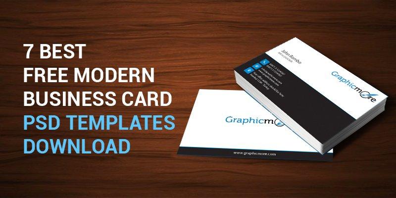 7 Best Free Modern Business Card PSD Templates Download