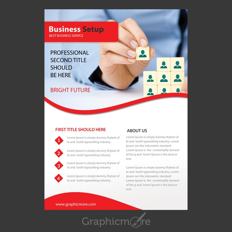 Business Setup Flyer Design Free PSD File By GraphicMore